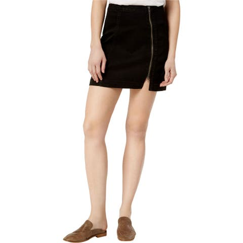 Free People Womens This Way or That Mini Skirt, Black, 2