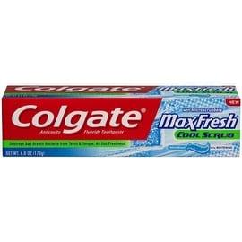 Colgate MaxFresh Anticavity Fluoride Toothpaste Cool Scrub, 6 oz