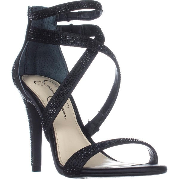 Jessica Simpson Emilyn Heeled Sandals, Black - 7.5 us / 37.5 eu