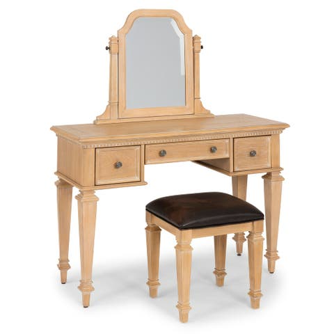 Manor House Natural Vanity, Mirror & Bench by homestyles