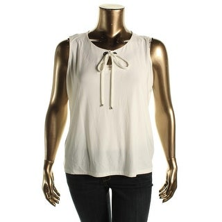 Tahari Womens Plus Stretch Sleeveless Pullover Top - 1X