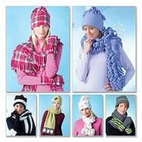 All Sizes In One Envelope - Misses' Hats; Scarves And Convertible Mittens