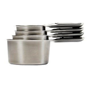 OXO Good Grips 11132000 Stainless Steel Measuring Cup w/Magnetic Handle, 4-Piece