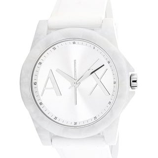 Armani Exchange Women's AX4339 White Rubber Japanese Quartz Fashion Watch