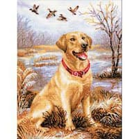 """Labrador Counted Cross Stitch Kit-11.75""""X15.75"""" 14 Count"""
