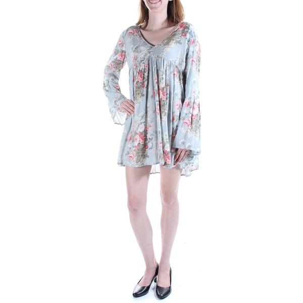 04e65f95 RALPH LAUREN D & S $125 Womens New 1383 Blue Pink Floral Baby Doll Dress XS  B+B