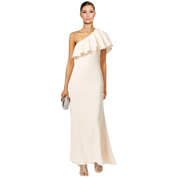 Shop Vince Camuto One Shoulder Ruffle Evening Gown Dress - Free ...