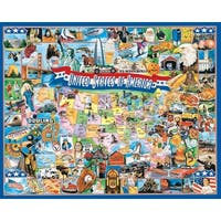 """Jigsaw Puzzle 1000 Pieces 24""""X30""""-United States Of America"""