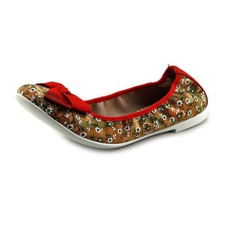 Alviero Martini 1A Classe Jasmine Youth Round Toe Synthetic Brown Flats