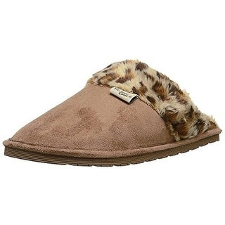 Western Chief Womens Cheetah Microfiber Indoor/Outdoor Scuff Slippers - 10