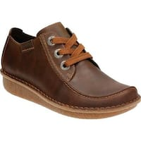 Clarks Women's Funny Dream Lace Up Shoe Brown Nubuck
