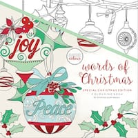 """Kaisercolour Perfect Bound Coloring Book 9.75""""X9.75""""-Words Of Christmas"""