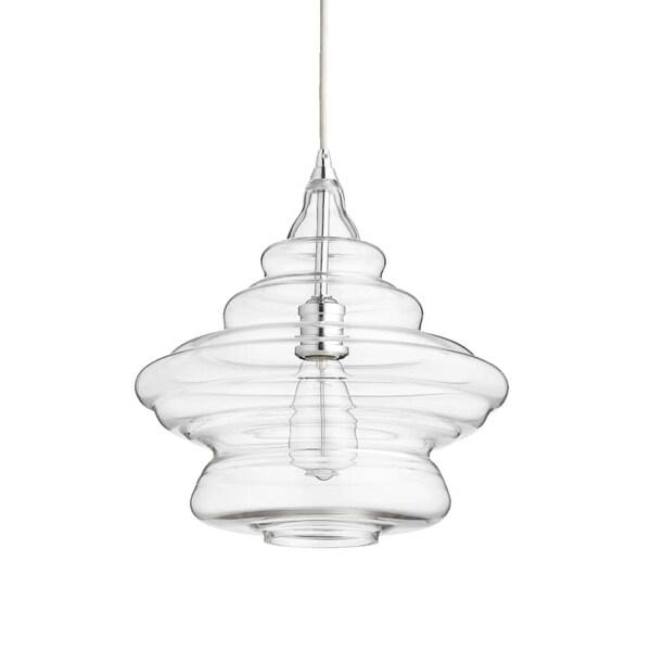 "Quorum International 8003 14"" Wide Single Light Pendant with Schoolhouse Glass Shade"