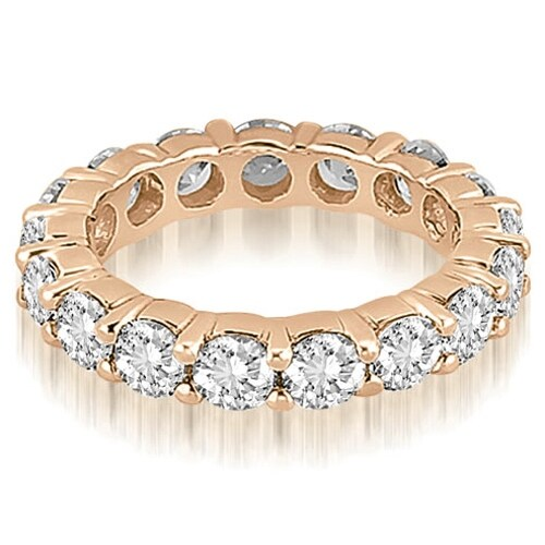 5.60 cttw. 14K Rose Gold Round Diamond Eternity Ring,HI,SI1-2