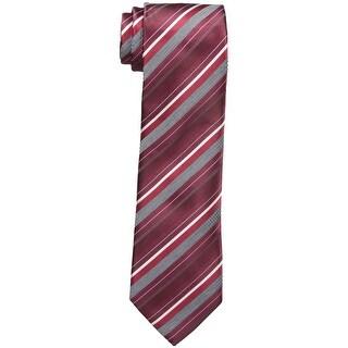 Geoffrey Beene NEW Red Burgundy Beyond Stripe Mens Casual Necktie