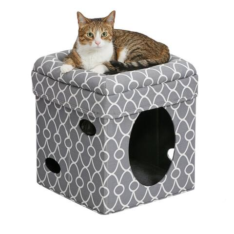 "Midwest Curious Cat Cube 15.13"" x 15.13"" x 16.50"" - 15.13"" x 15.13"" x 16.50"""
