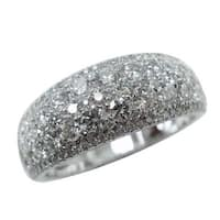 Prism Jewel 1.40Ct G-H/SI1 Natural Diamond Wedding Band, White Gold - White G-H