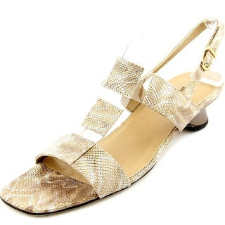 Vaneli Berdine Women N/S Open-Toe Synthetic Tan Slingback Sandal