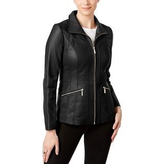 Anne Klein Womens Black  Jacket