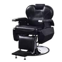 Costway All Purpose Hydraulic Recline Barber Chair Salon Beauty Spa Shampoo Hair Styling - Black