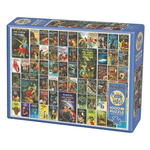 Outset Media Hardy Boys Book Cover 1000 Piece Puzzle - Multicolor