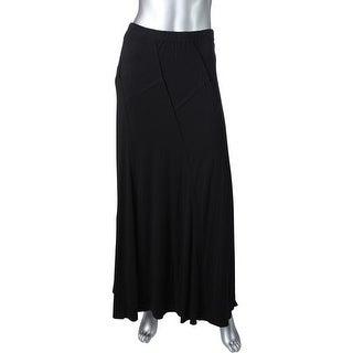 Studio M Womens A-Line Skirt Patchwork Maxi
