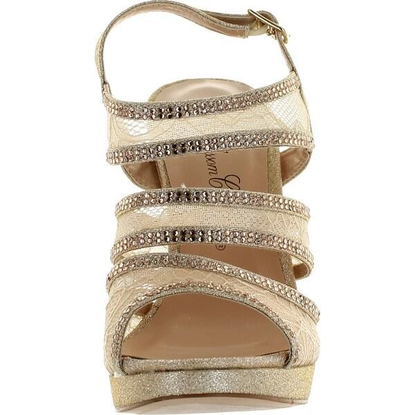 DeBlossom Womens Yael-88 Dressy Party Heels Sandals