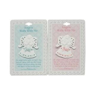 Roman Club Angel Boy & Girl Porcelain 2 in. Pins, Pack of 24