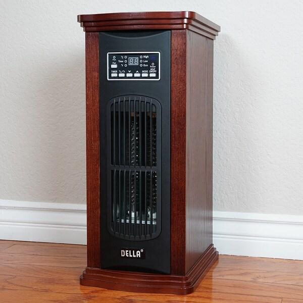 Della Portable 1500-Watt Electric Infrared Quartz Tower Heater / Fan / Eco Freestanding with Remote Control