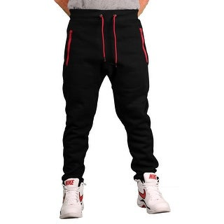 Brooklyn Xpress Men's Fleece Jogger Pant w/Zippered Pockets