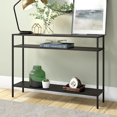 Ricardo Console Table with Metal Shelves