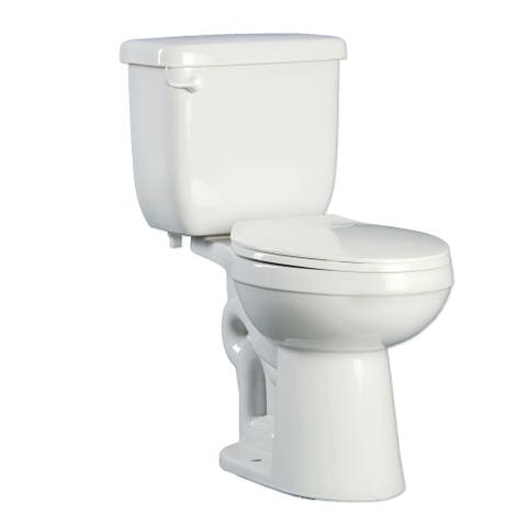 PROFLO PFCT103HE Two-Piece High Efficiency Toilet with Elongated ADA - White