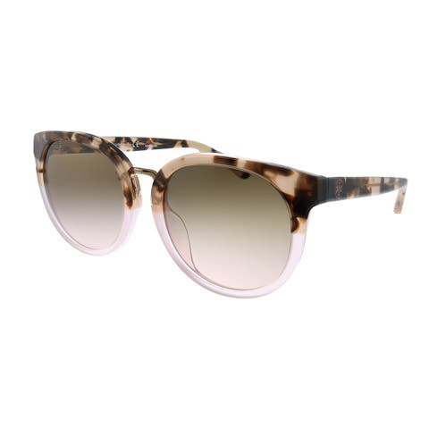 Tory Burch TY 7153U 175411 Womens Blush Tortoise Frame Brown Gradient Lens Sunglasses