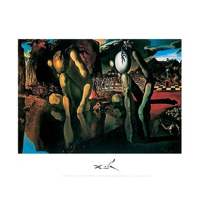 ''Metamorphosis of Narcissus'' by Salvador Dali Optical Art Art Print (11 x 14 in.)