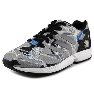 Adidas ZX Flux  Men  Round Toe Canvas Gray Sneakers