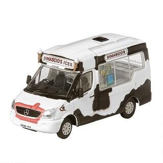 Unisex-Adult Vintage British Ice Cream Trucks: Dimascio's (Cow Graphics) - Die Cast Metal Collectable - MultiColor
