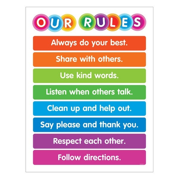 Shop Color Your Clssrm Our Rules Chart Free Shipping On Orders