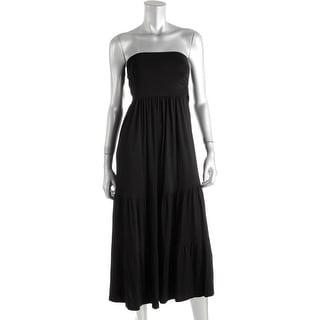 Maternal America Womens Convertible Ruched Maternity Dress - L