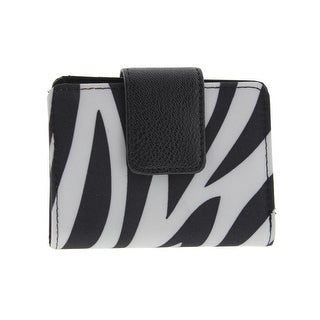 Kenneth Cole Reaction Womens Bifold Wallet Zebra Print Photo