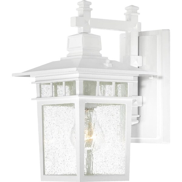 """Nuvo Lighting 60/4951 Cove Neck 1-Light 11-3/4"""" Tall Outdoor Wall Sconce with Seedy Glass Shade - ADA Compliant - White - n/a"""