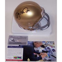 Joe Montana Autographed Hand Notre Dame Fighting Irish Mini Helmet  PSADNA