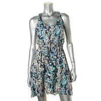 Aqua Womens Casual Dress Printed Racerback - s