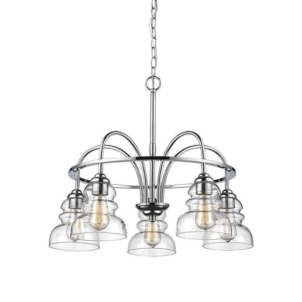 "Millennium Lighting 7345 Brighton 5-Light 26"" Wide Chandelier with Glass Shades - n/a"