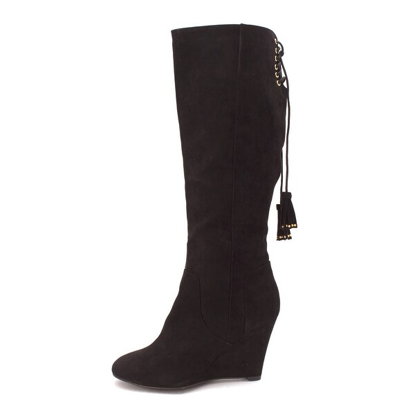 Thalia Sodi Womens Adallia Fabric Closed Toe Knee High Fashion Boots - 8