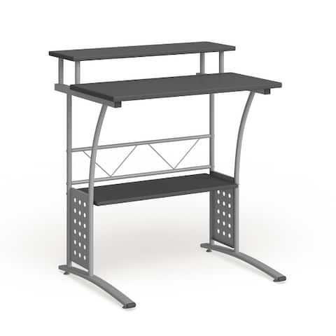 Computer Desk with Top and Lower Storage Shelves