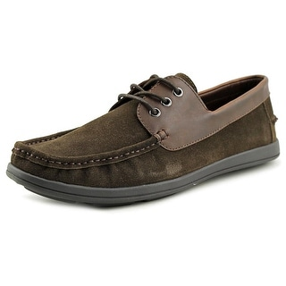Unlisted Kenneth Cole Back Up Plan Men Moc Toe Suede Brown Oxford