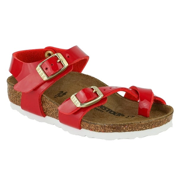 a802ede37aa Shop Birkenstock Kid s Taormina Birko-Flor Patent Sandals - tango red patent  - On Sale - Free Shipping Today - Overstock - 24257724
