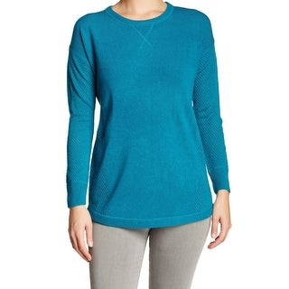 Sweet Romeo NEW Blue Turquoise Women's Size Small S Crewneck Sweater
