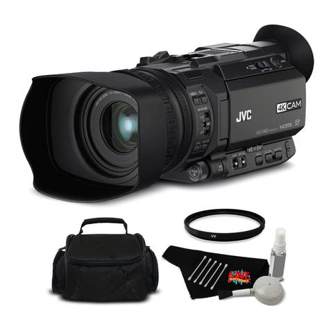 JVC GY-HM170UA Ultra 4K HD CAM Compact Professional Camcorder Bundle with Top Handle Audio Unit