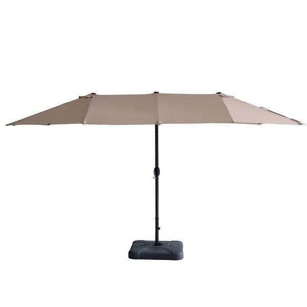15ft Patio Umbrella Double-sided Outdoor Garden Market Sun Shade Crank. Opens flyout.